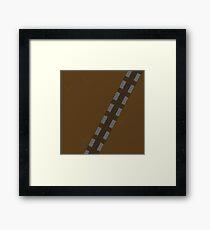 Minimalist Chewbacca Framed Print