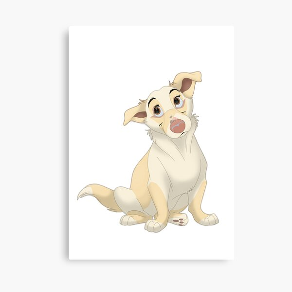 Sweet light brown mutt with light ears Canvas Print