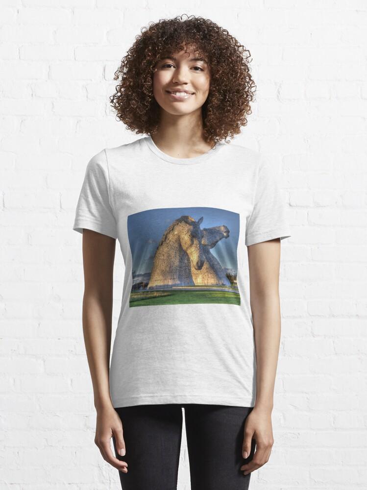 Alternate view of The Kelpies, Helix Park , Falkirk Essential T-Shirt