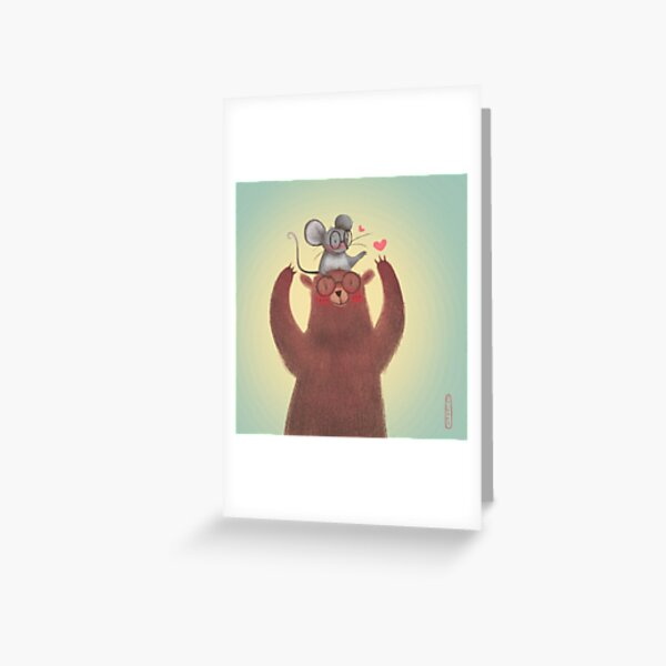 The Bear and The Mouse Greeting Card