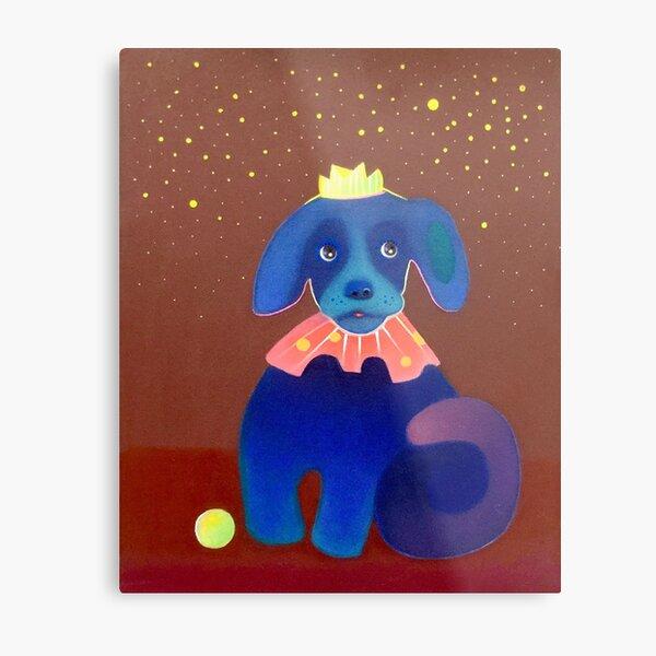 Dog Prince Metal Print
