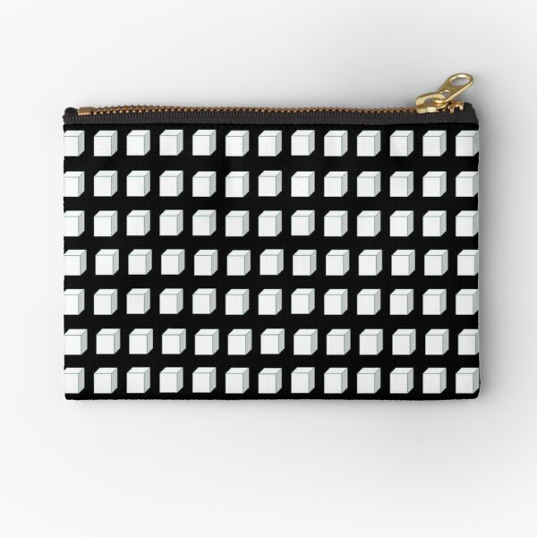 Black and White Cube  Zipper Pouch