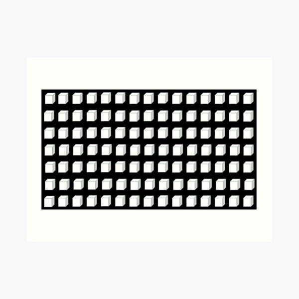 Black and White Cube  Art Print