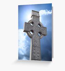 celtic cross head stone Greeting Card