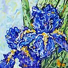 """Purple Irises"" by Deborah Glasgow"