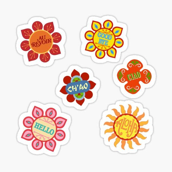 It's a Small World Flowers (original) Sticker