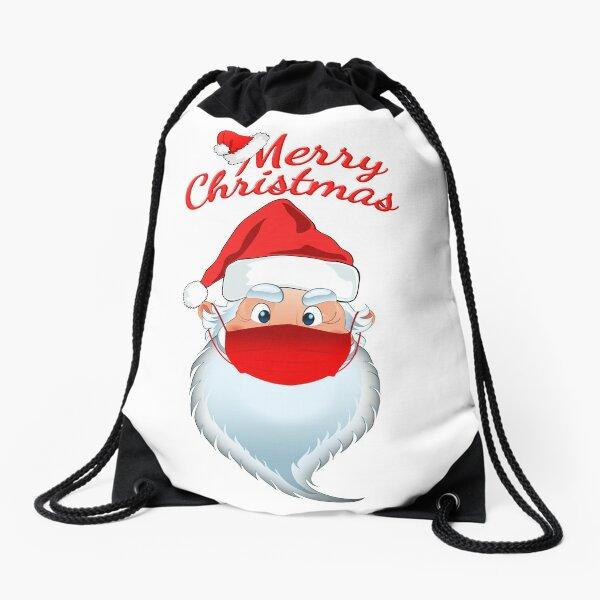 Merry Christmas Santa Claus Drawstring Bag