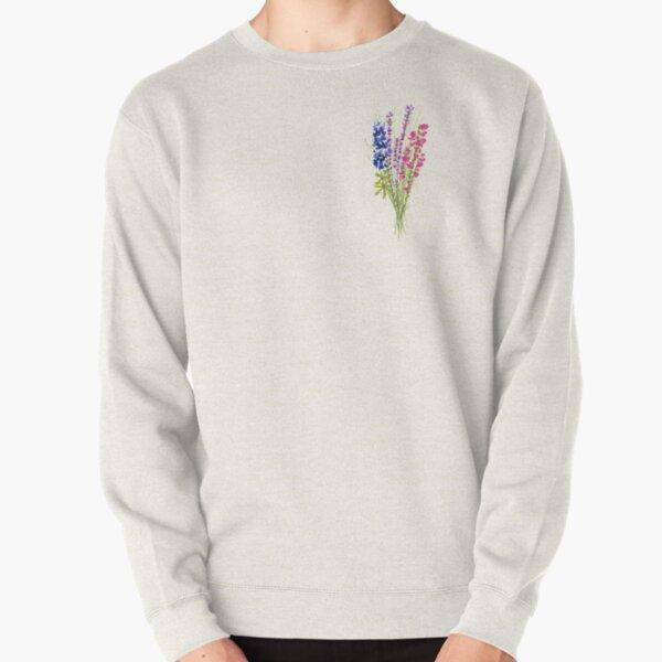 subtle bi pride flowers Pullover Sweatshirt