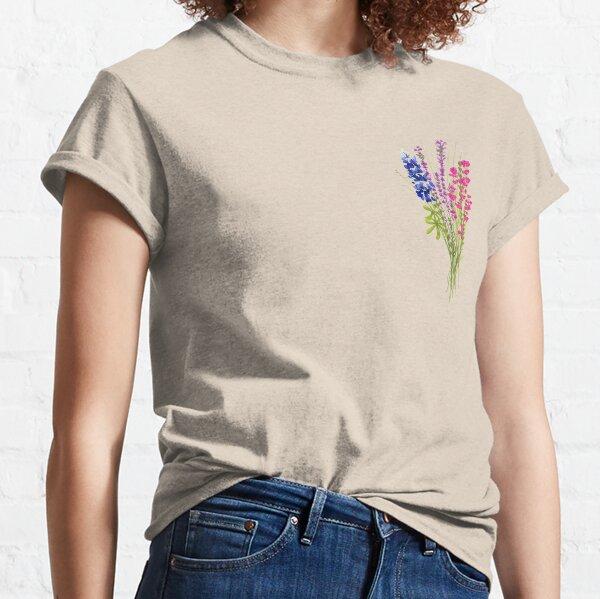 subtiles fleurs bi fierté T-shirt classique