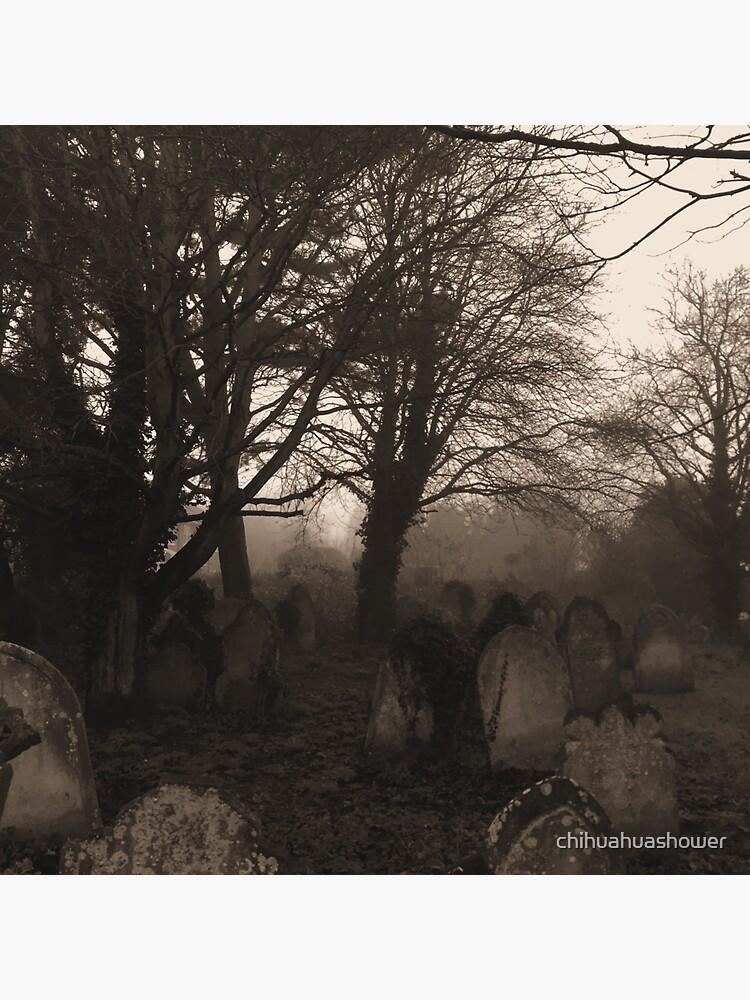 Sepia graveyard by chihuahuashower