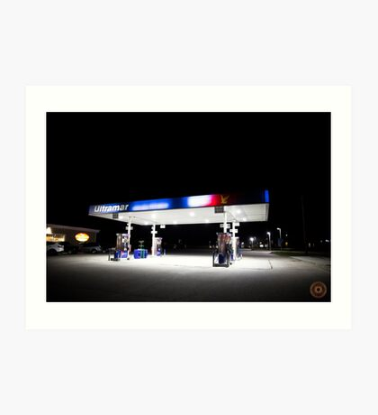 Ultramar - Gas station by night Art Print