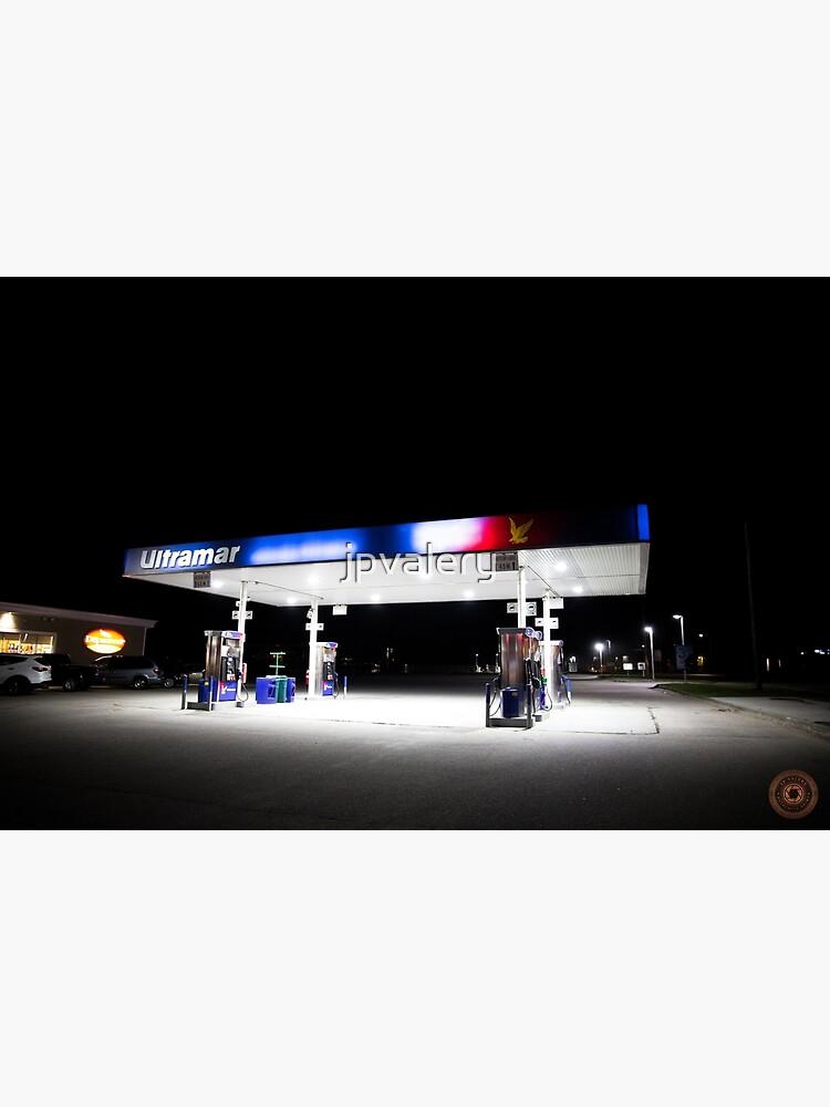 Ultramar - Gas station by night by jpvalery