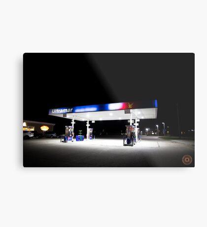 Ultramar - Gas station by night Metal Print