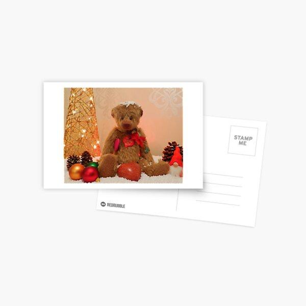 Cuddles at Christmas Postcard