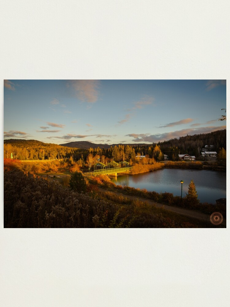 Alternate view of Fall Sunset in Quebec Photographic Print