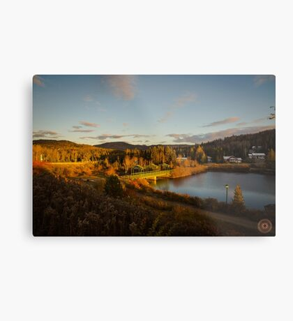 Fall Sunset in Quebec Metal Print