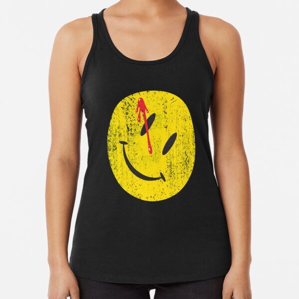 BLOODY BUTTON TANK TOP VEST Watchmen Heroes Comedian Comic TV Smile The Movie