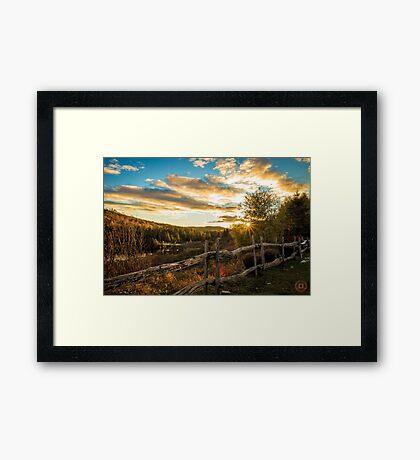 Autumn Sunset Landscape Framed Print