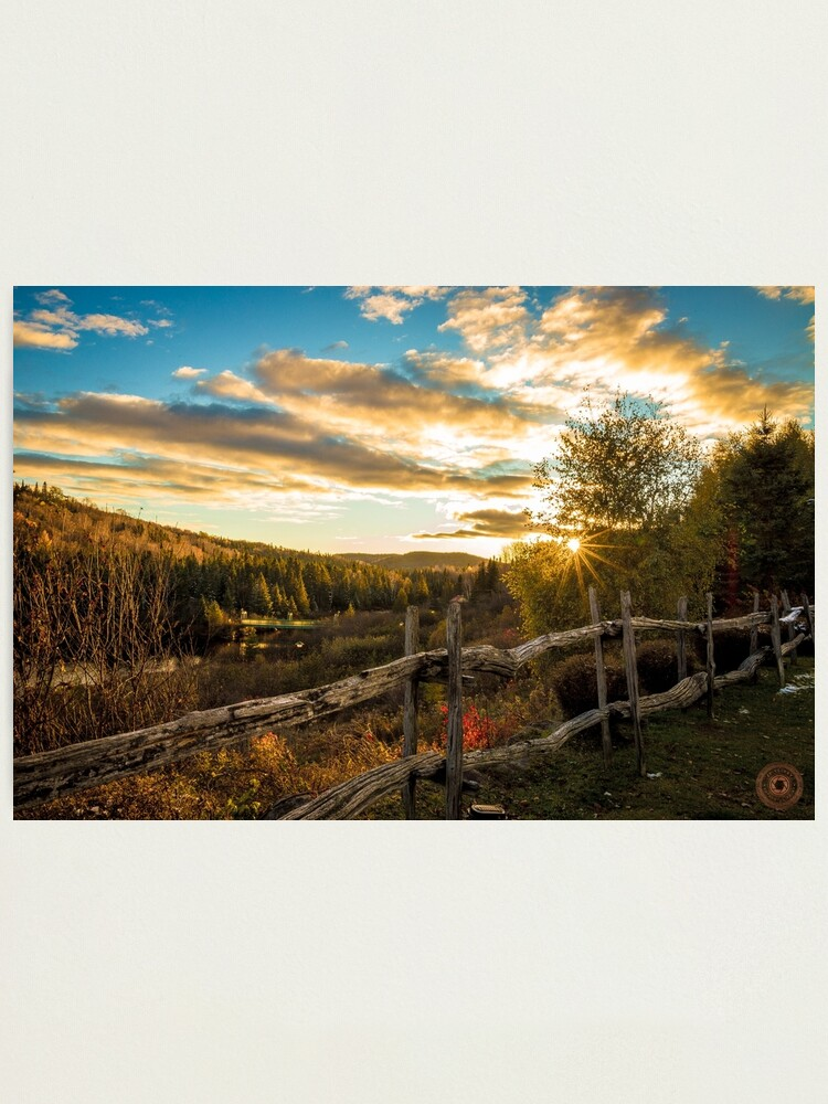 Alternate view of Autumn Sunset Landscape Photographic Print