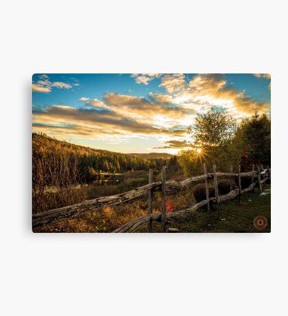 Autumn Sunset Landscape Canvas Print