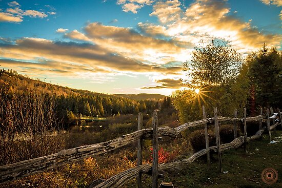 Autumn Sunset Landscape by jpvalery