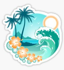 Hawaiian Island Sticker