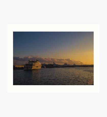 Sunset Seascape Riviera France Art Print