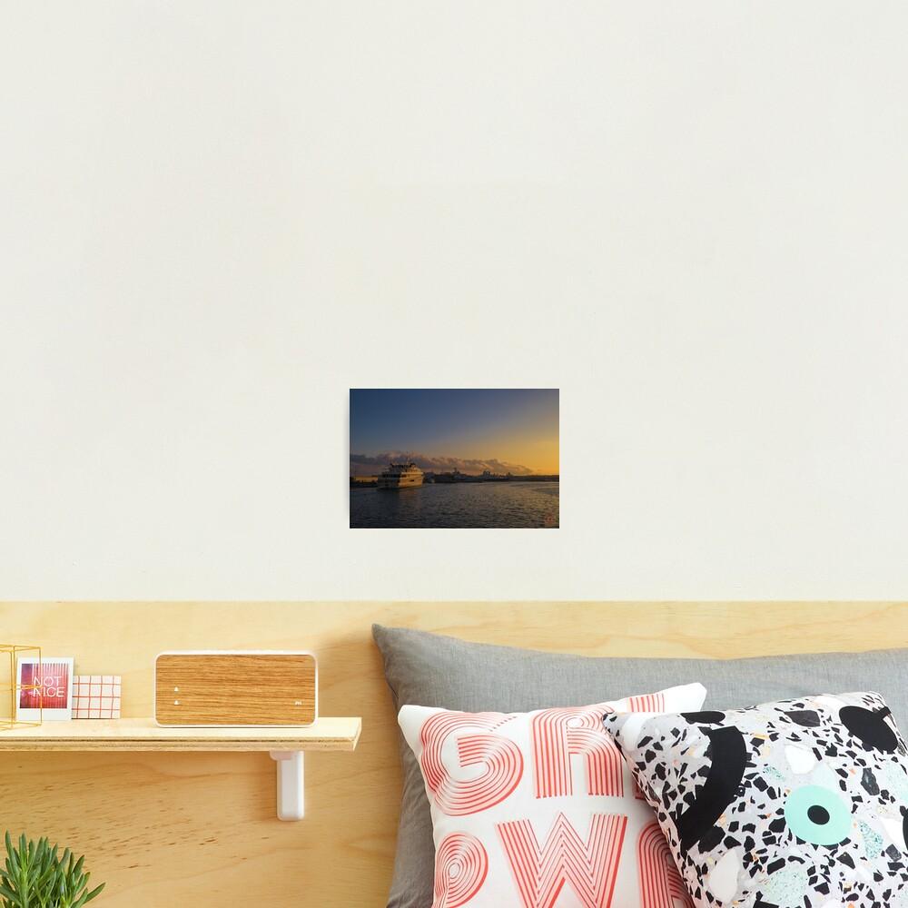 Sunset Seascape Riviera France Photographic Print