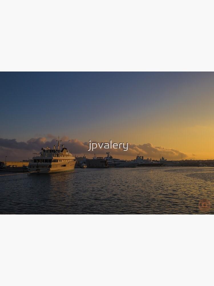 Sunset Seascape Riviera France by jpvalery