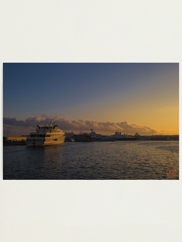 Alternate view of Sunset Seascape Riviera France Photographic Print