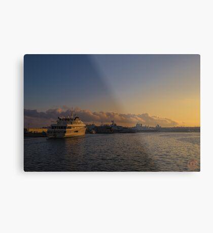 Sunset Seascape Riviera France Metal Print