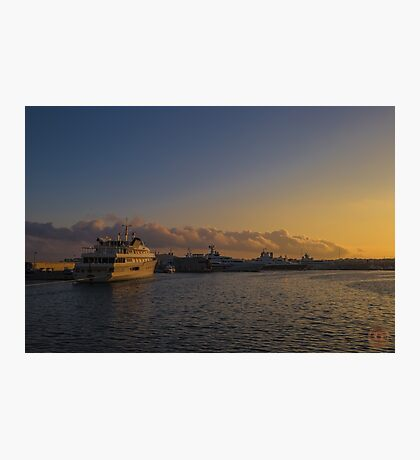 Sunset Seascape Riviera France Photographic Print