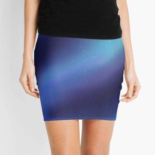 Cool Blue Galaxy Mini Skirt