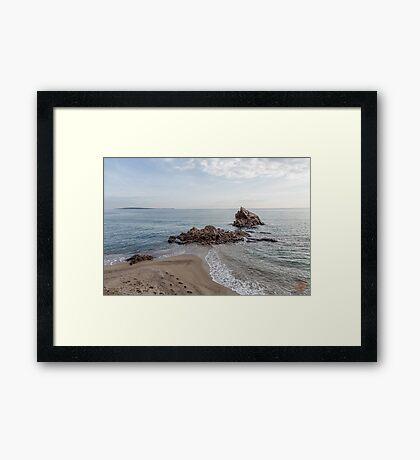 Waves Junction Seascape Framed Print