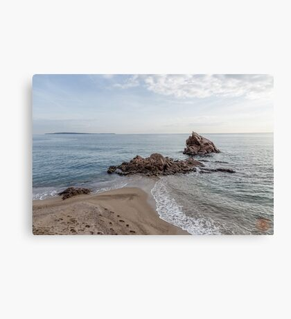 Waves Junction Seascape Canvas Print