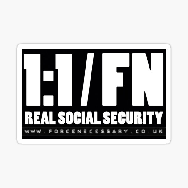 Real Social Security  Sticker