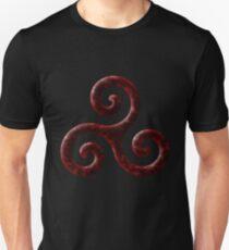 Triskele -red Unisex T-Shirt