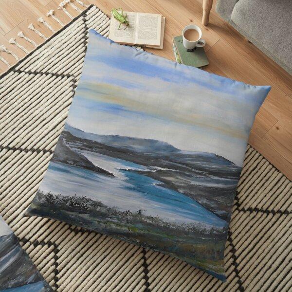 Winter in Lakeland Floor Pillow