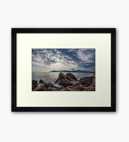 Misty Horizons French Riviera Framed Print