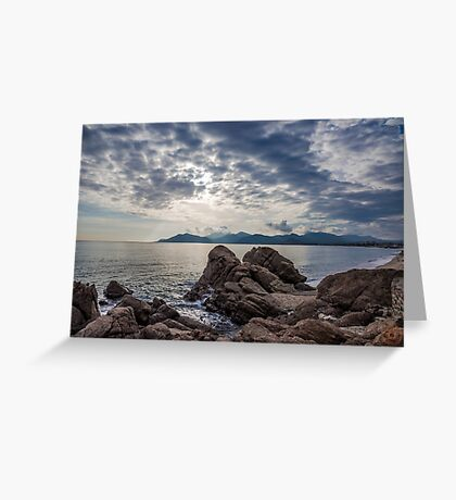 Misty Horizons French Riviera Greeting Card