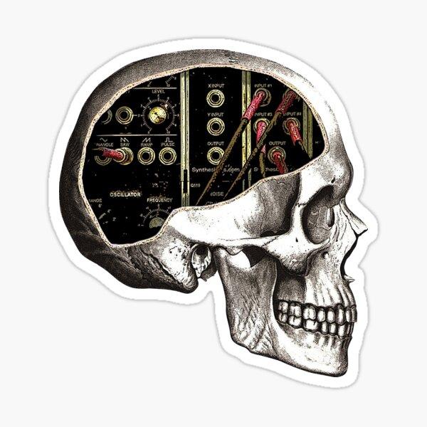 Analog Modular Synthesizer Skull for Synth Nerd Sticker