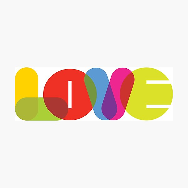 L.O.V.E. Collection by of paper & pixels Photographic Print