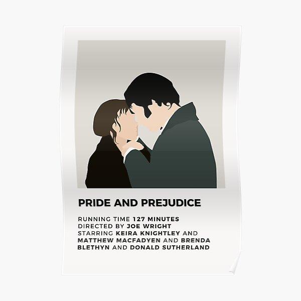 Affiche minimaliste d'orgueil et de préjugés Poster