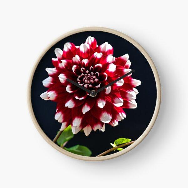 Red flower Clock