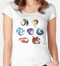 Dragon Classes - Galaxy Women's Fitted Scoop T-Shirt