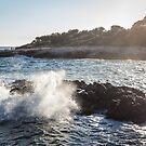 Waves Crashing on Rocks - Southern France by jpvalery