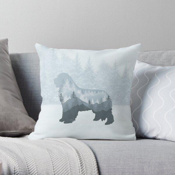"""Newfie """"Tree"""" Design Throw Pillow"""