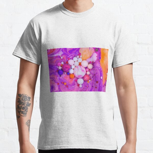 Bubbles Art Grapefruit Classic T-Shirt