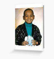 LeBron James (Kid) Greeting Card