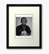LeBron James (Kid BW) Framed Print